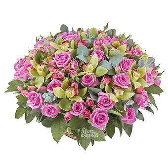 Букет Харита: Орхидеи и розы