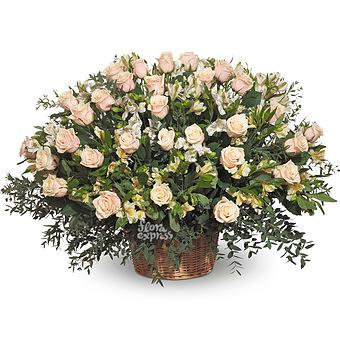 Букет Очарование: Розы и альстромерии