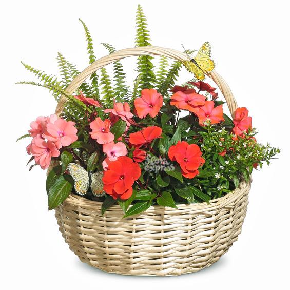 Корзина «Цветочный подарок»